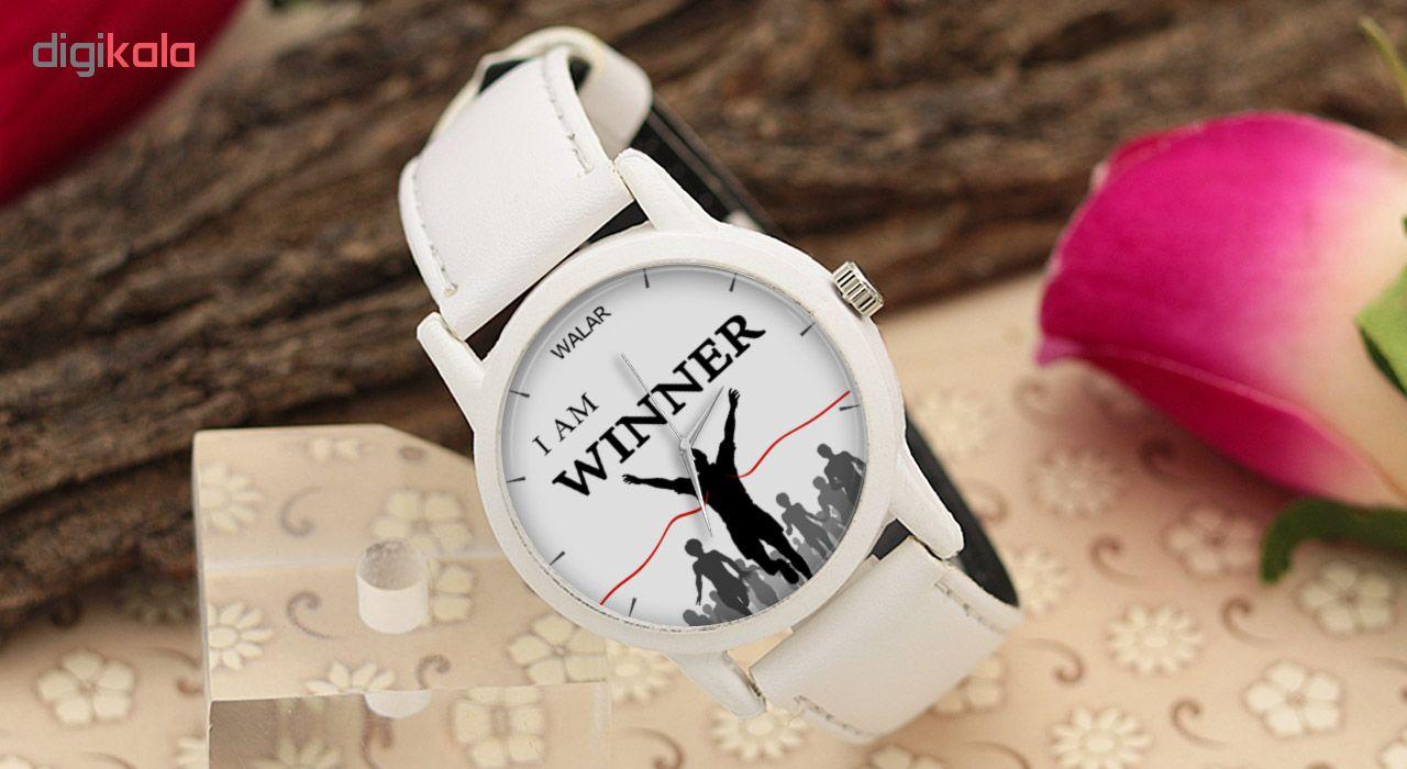 کد تخفیف                                      ساعت مچی عقربه ای والار طرح I Am Winner کد LF1591