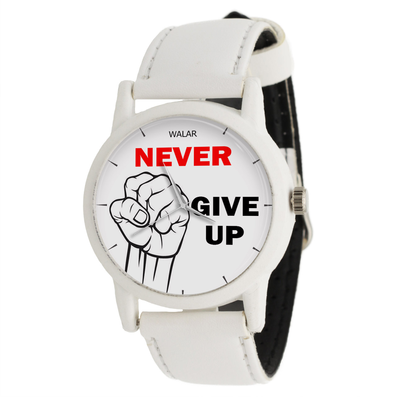 ساعت مچی عقربه ای والار طرح Never Give Up کد LF1589