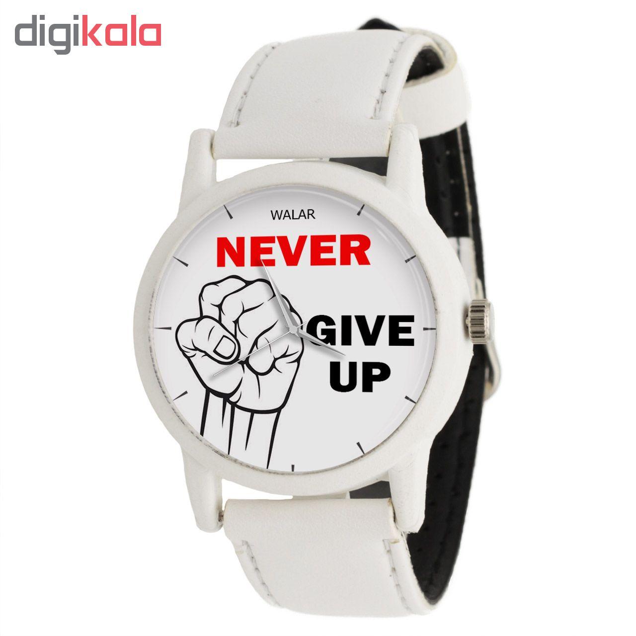 کد تخفیف                                      ساعت مچی عقربه ای والار طرح Never Give Up کد LF1589