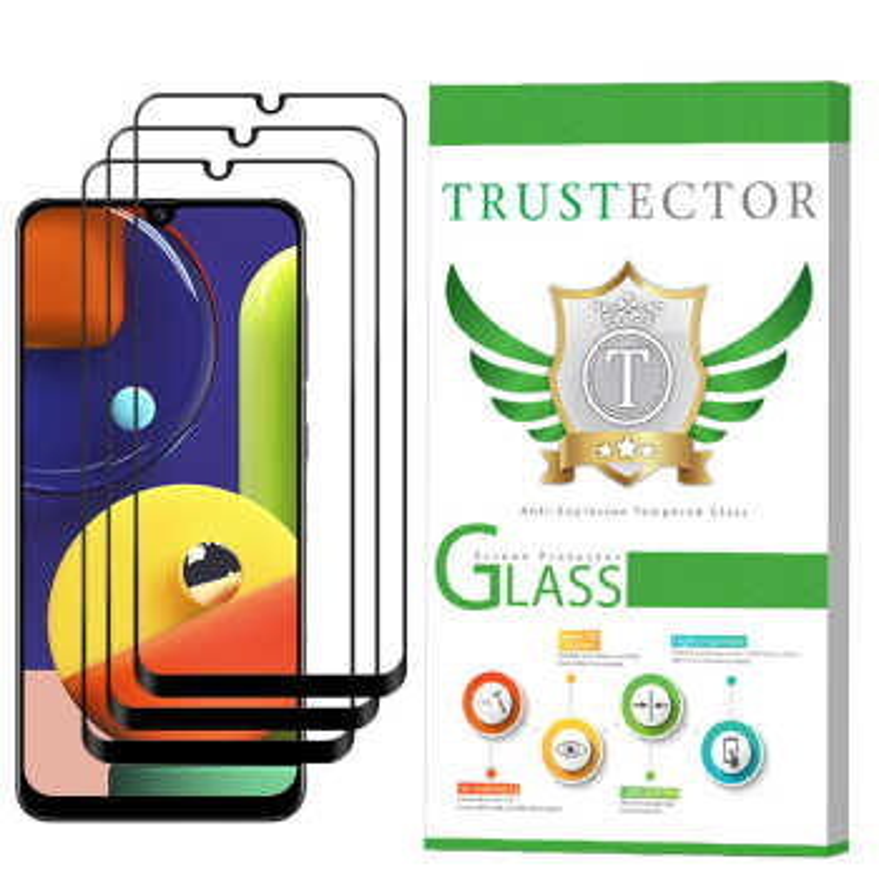 محافظ صفحه نمایش تراستکتور مدل GSS مناسب برای گوشی موبایل سامسونگ Galaxy A50s بسته 3 عددی