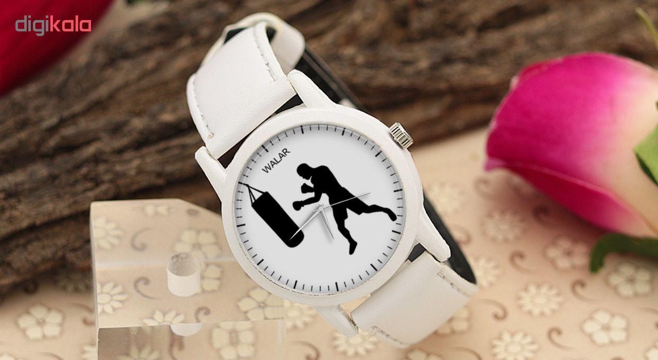 کد تخفیف                                      ساعت مچی عقربه ای مردانه والار طرح بوکس کد LF1579