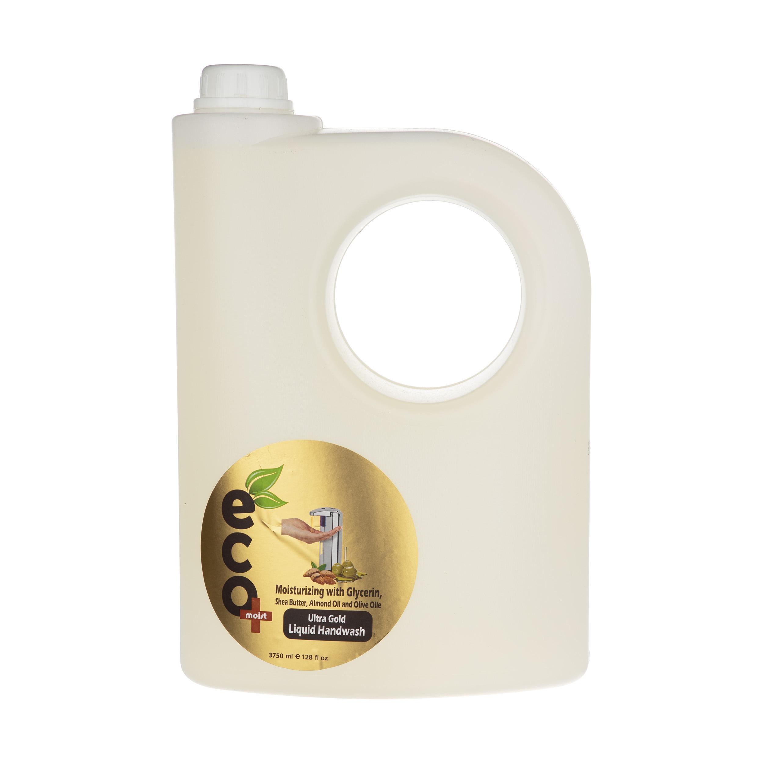 مایع دستشویی ایکو مویست کرمی مدل Olive حجم 3.75 لیتر