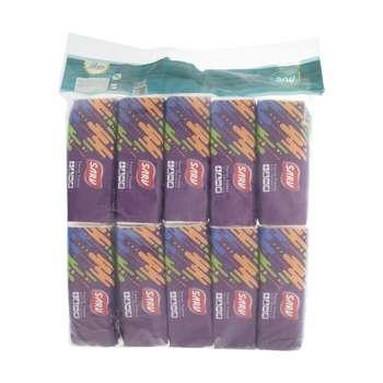 دستمال کاغذی 100 برگ سرو مدل Colorful بسته 10 عددی