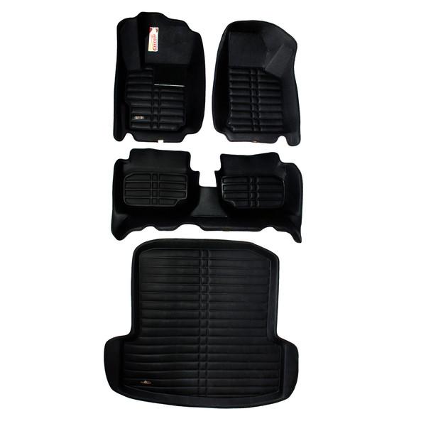 کفپوش سه بعدی خودرو سلست کد 3009  مناسب برای برلیانس H330 به همراه کفپوش صندوق