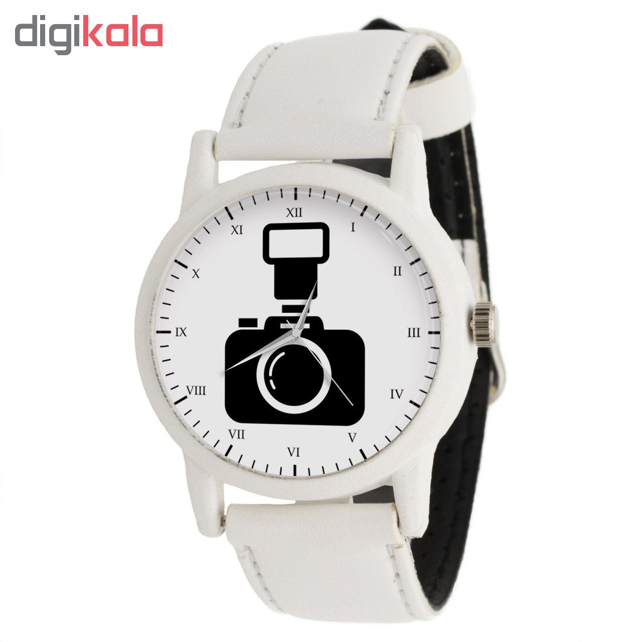 کد تخفیف                                      ساعت مچی عقربه ای طرح دوربین عکاسی کد LF1576