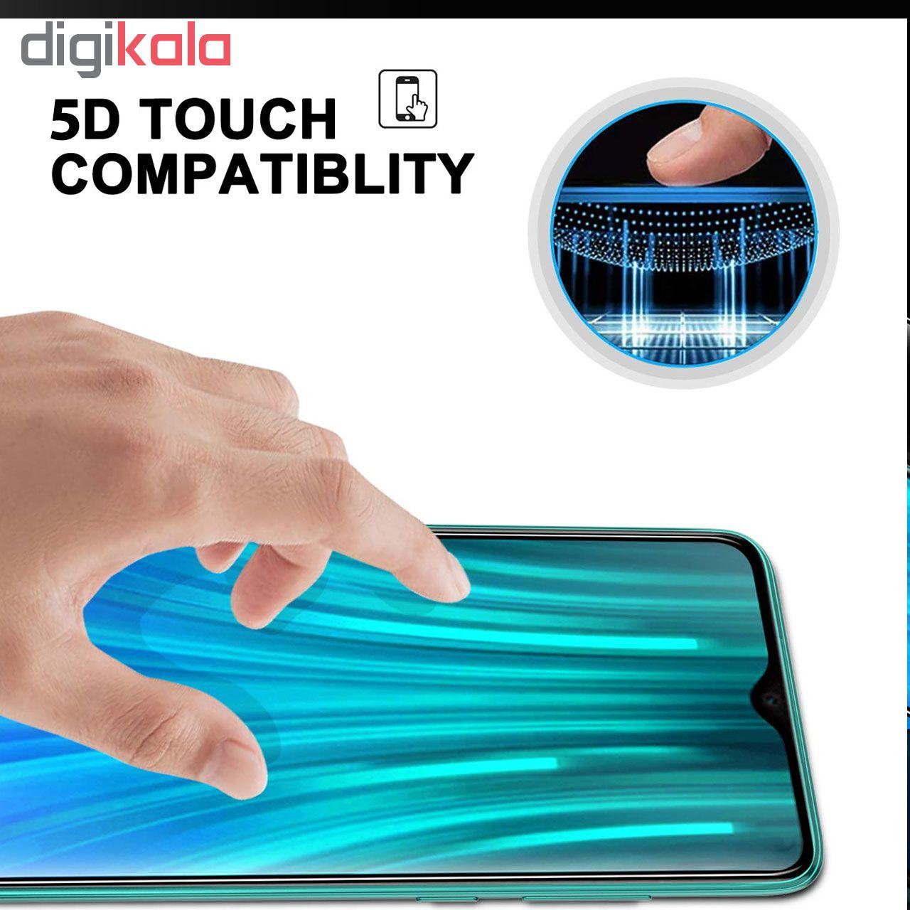 محافظ صفحه نمایش 5D هورس مدل FAG مناسب برای گوشی موبایل شیائومی Redmi Note 8 Pro main 1 5