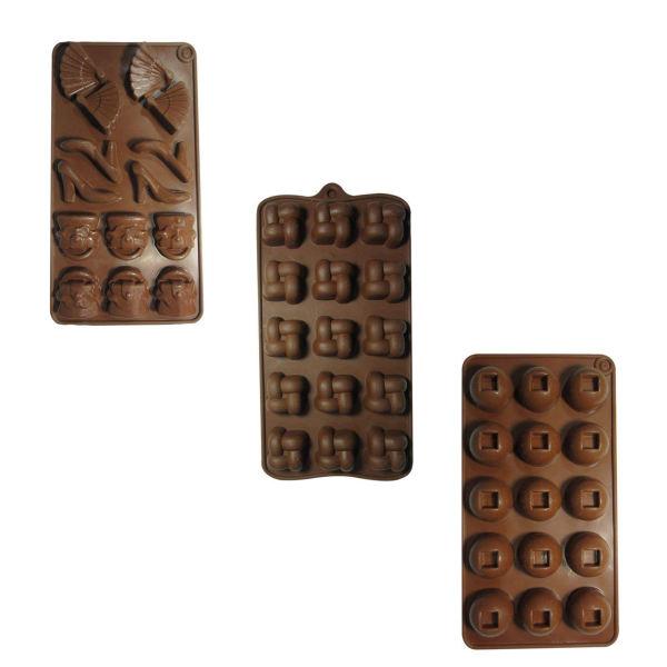 قالب شکلات مدل Lady مجموعه 3 عددی