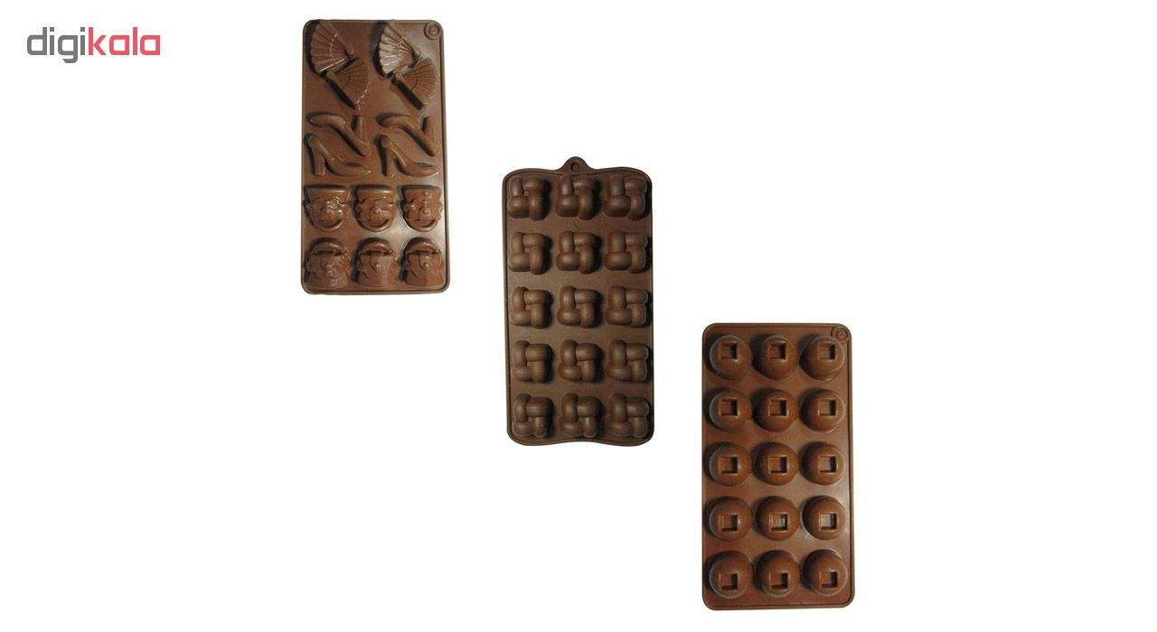 قالب شکلات مدل Lady مجموعه 3 عددی main 1 1