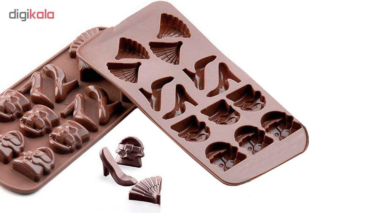 قالب شکلات مدل Lady مجموعه 3 عددی main 1 2