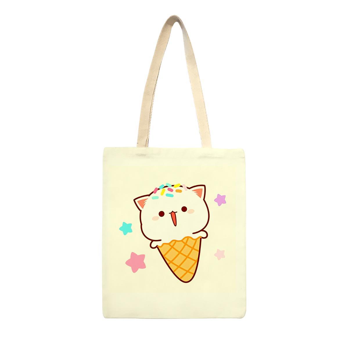 ساک خرید طرح بستنی و گربه کد sk45