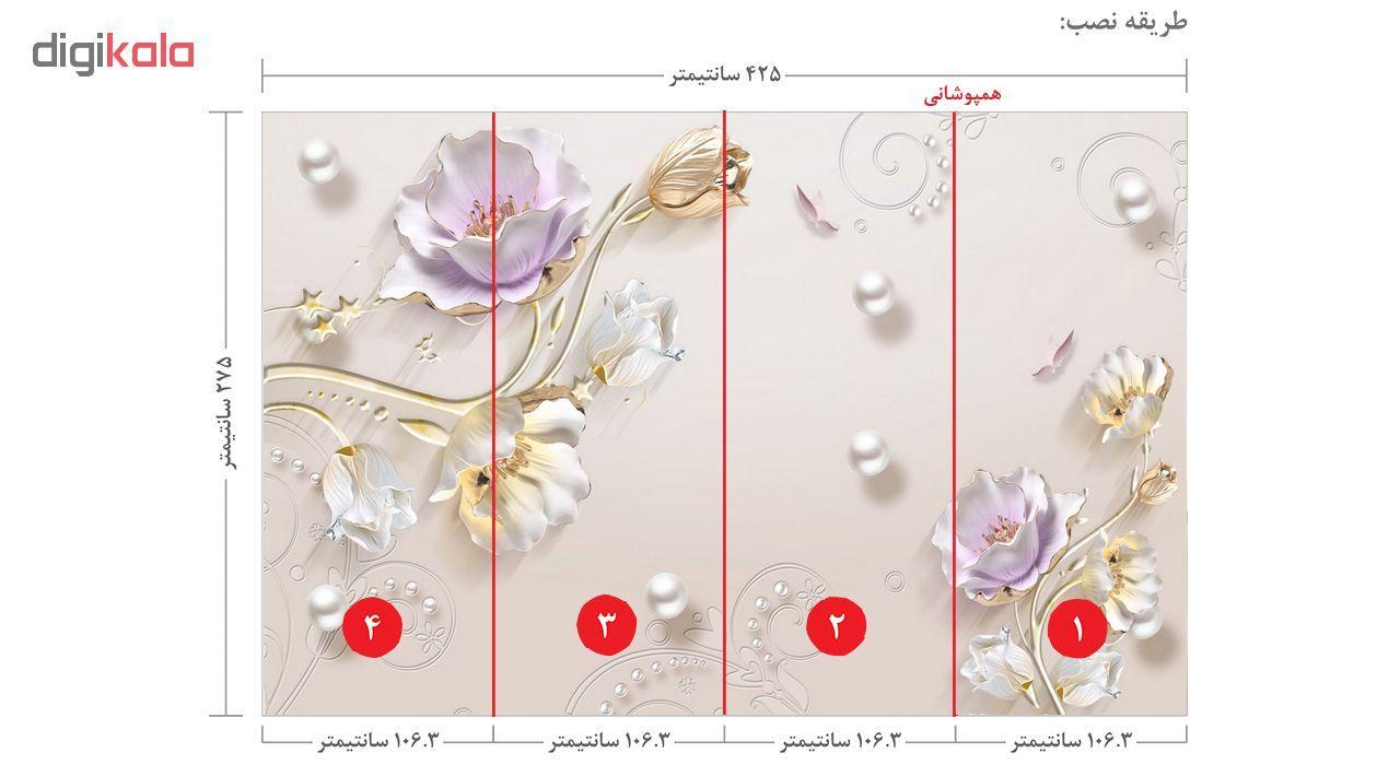 پوستر دیواری سه بعدی طرح گل کد 3DFL292