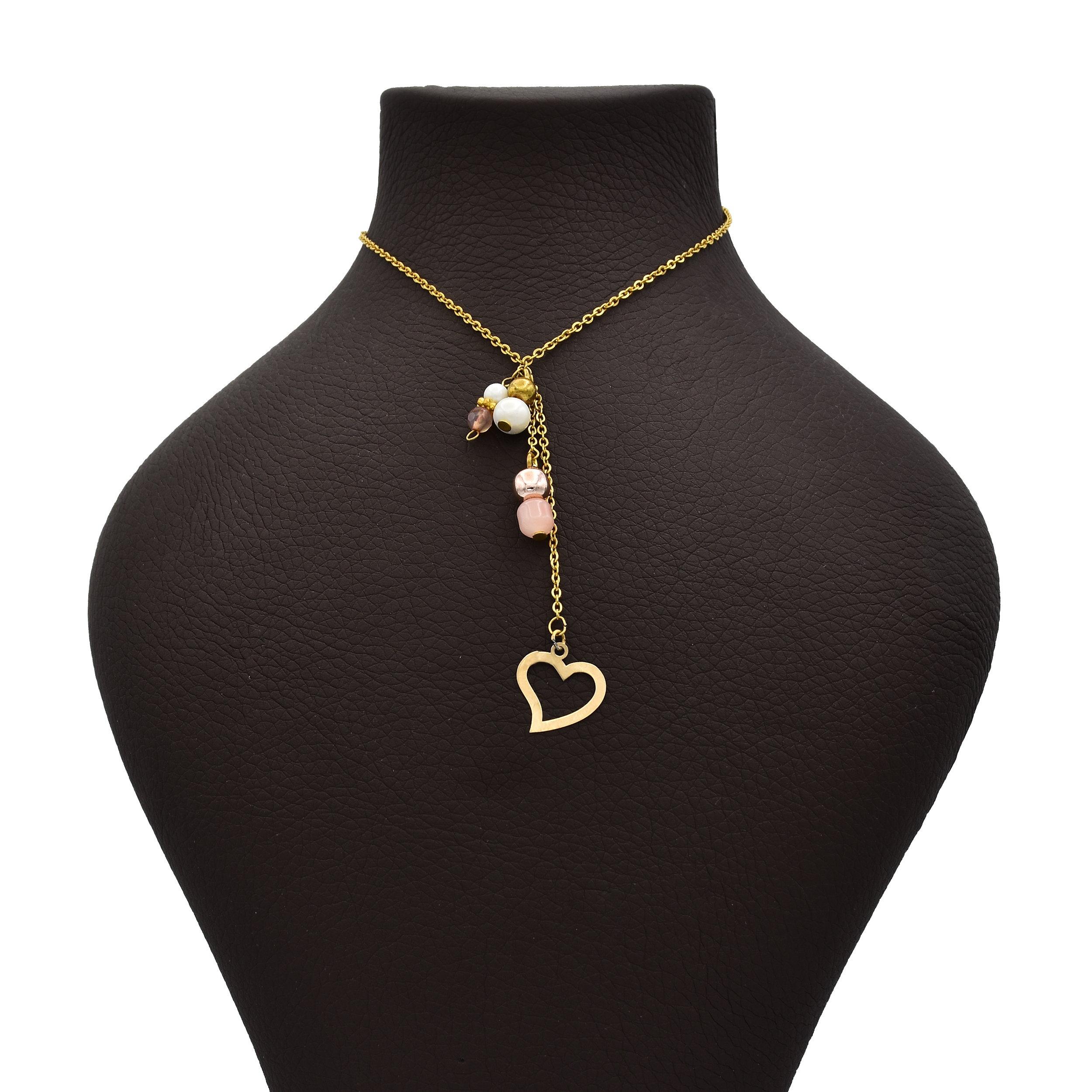 گردنبند طلا 18 عیار زنانه آمانژ طرح قلب کد 514D2961