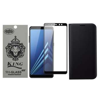 کیف کلاسوری مدل Fw-001 مناسب برای گوشی موبایل سامسونگ Galaxy A8 2018 به همراه محافظ صفحه نمایش ملو