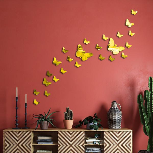 استیکر دیواری پدیده شاپ طرح پروانه مجموعه 22 عددی