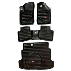 کفپوش سه بعدی خودرو لاستیک گیلان کد 1031 مناسب برای کیا سراتو به همراه کفپوش صندوق