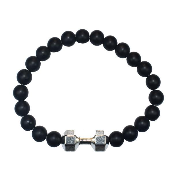دستبند مردانه طرح دمبل کد M2