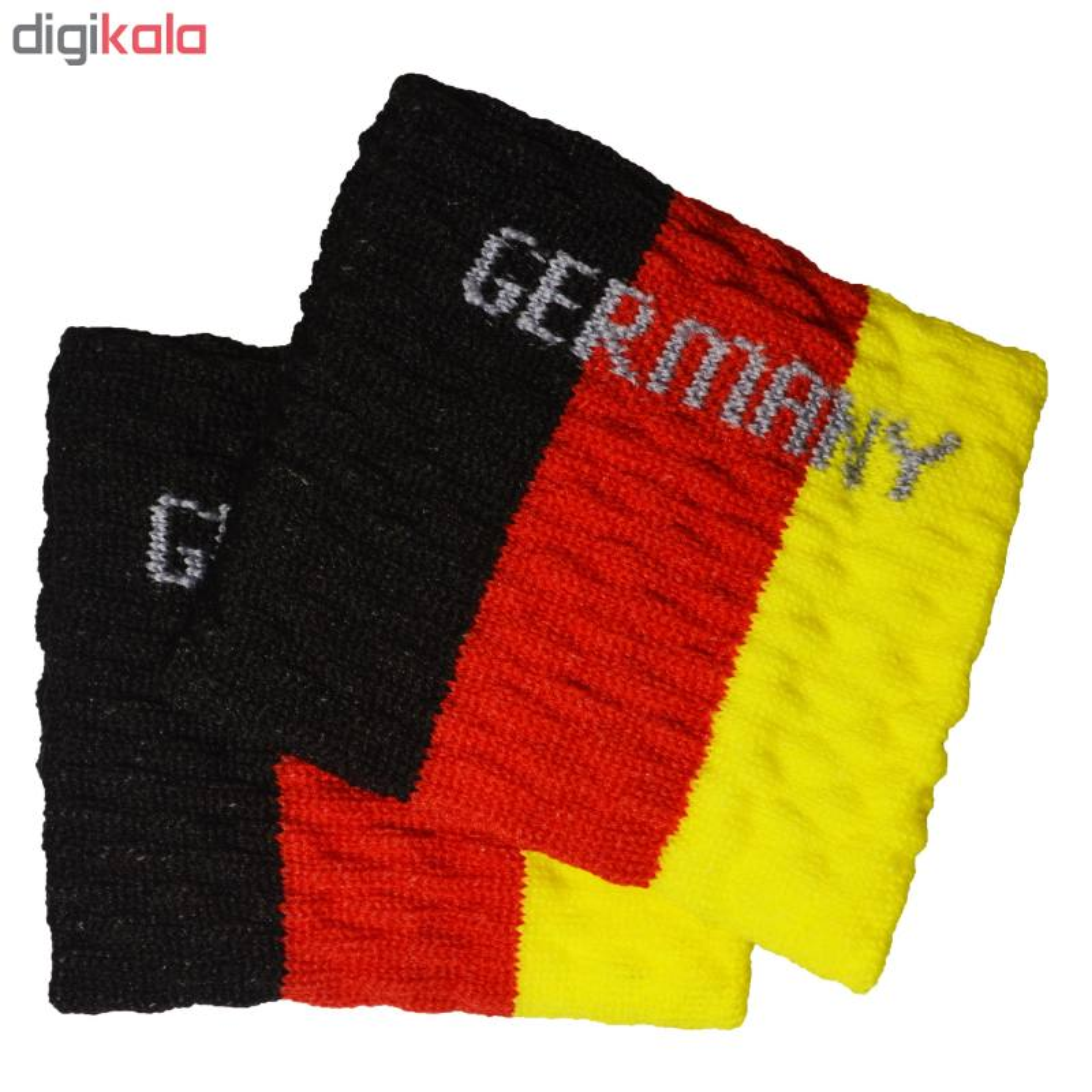 مچ بند ورزشی پرشیکا طرح پرچم کشور آلمان بسته 2 عددی