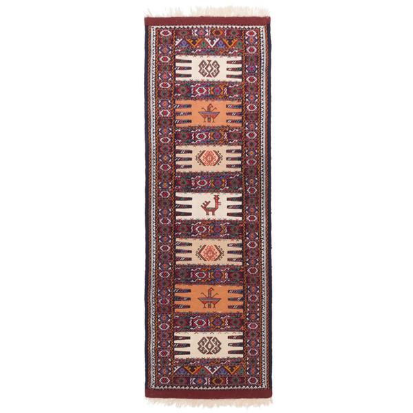 گلیم دستباف کناره طول دو متر سی پرشیا کد 176053
