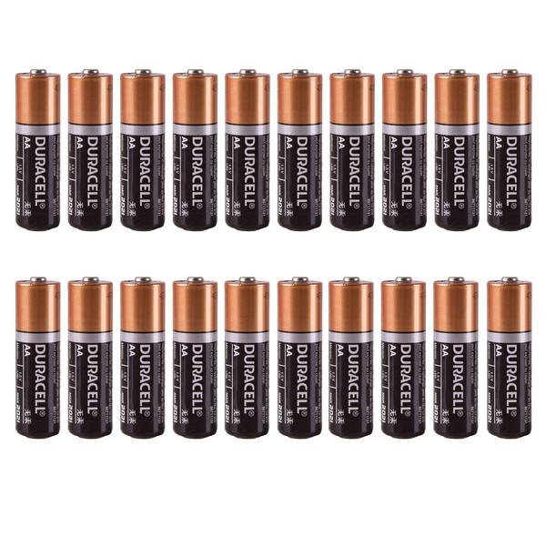 باتری قلمی دوراسل کد D20 بسته 20 عددی