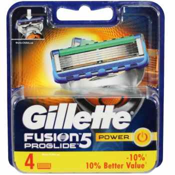 تیغ یدک ژیلت مدل  Fusion Proglide Power 5 ‏بسته 4 عددی