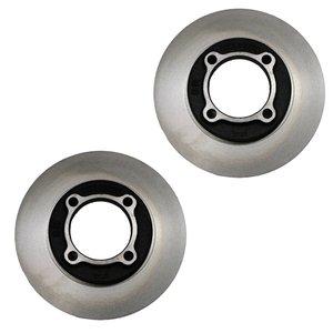 دیسک ترمز چرخ جلو شرکت تولیدی قطعات جلوبندی خودرو ایران لاهیجان کد MDA0133251 مناسب برای پراید بسته دو عددی