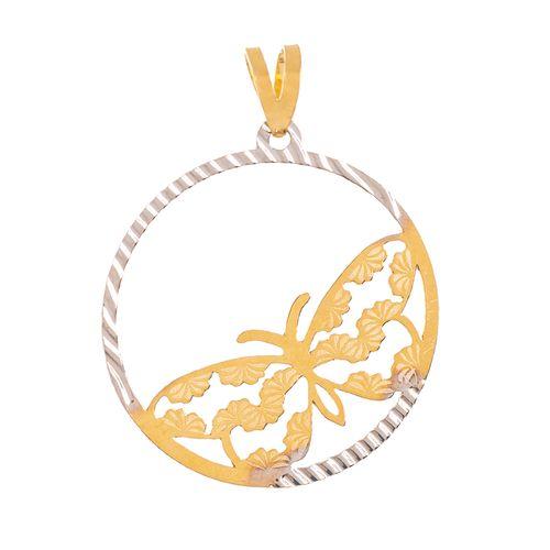 آویز گردنبند طلا 18 عیار زنانه طرح پروانه کد PL013