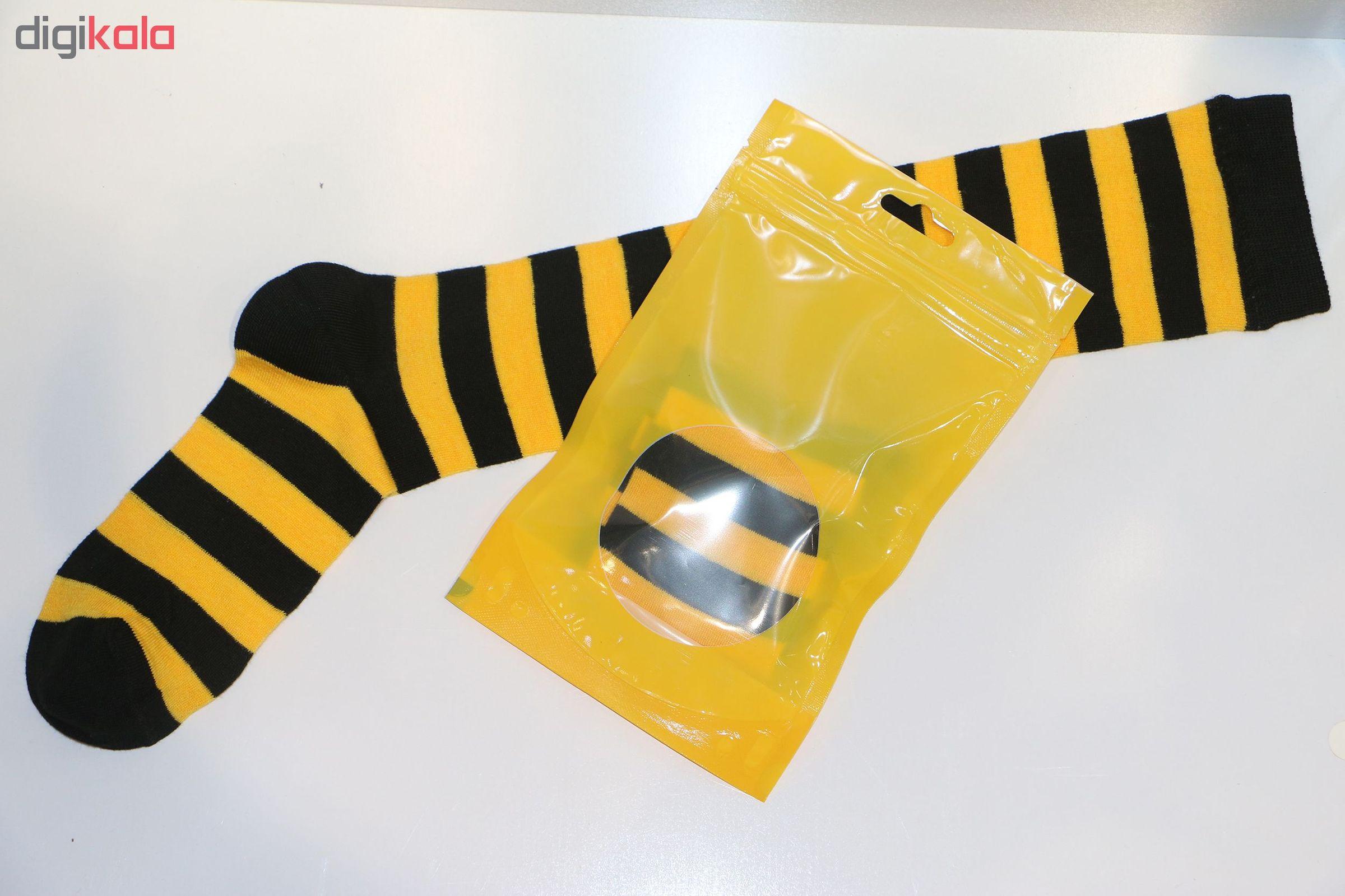 جوراب طرح زنبور مدل BEE01 main 1 3