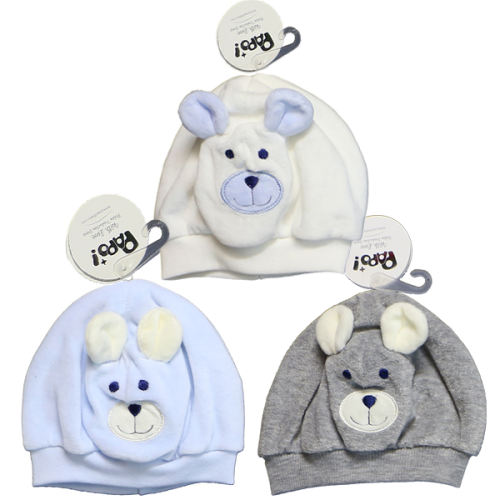 کلاه نوزاد پاپو کد B مجموعه 3 عددی