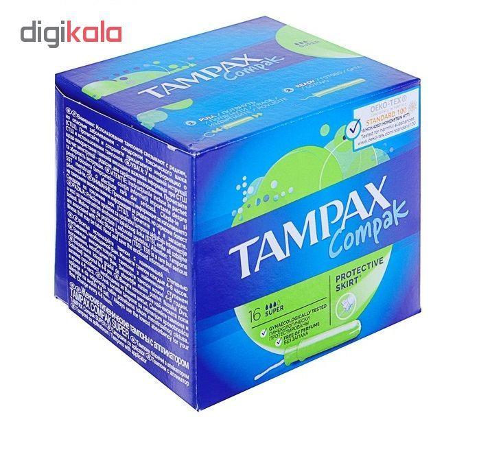 تامپون تامپکس مدل Super Compak بسته 16 عددی main 1 1