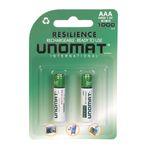 باتری نیم قلمی قابل شارژ یونومات مدل HR03 بسته 2 عددی