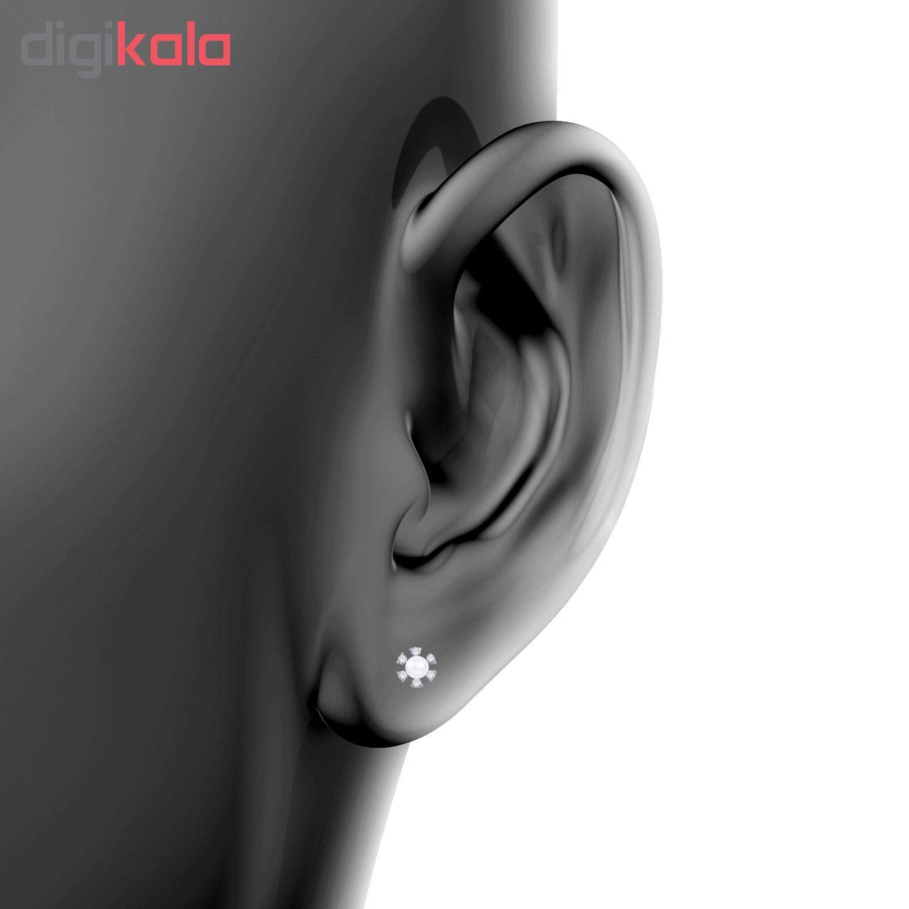 خرید                                      گوشواره نقره زنانه اقلیمه کد EN360