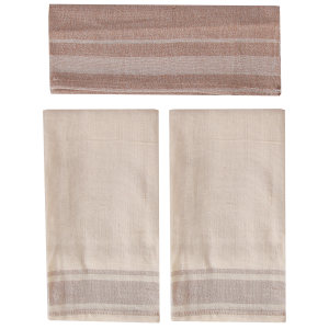دستمال دستبافت چهل دختر  کد 82023 سایز 36 × 40 سانتی متر بسته سه عددی