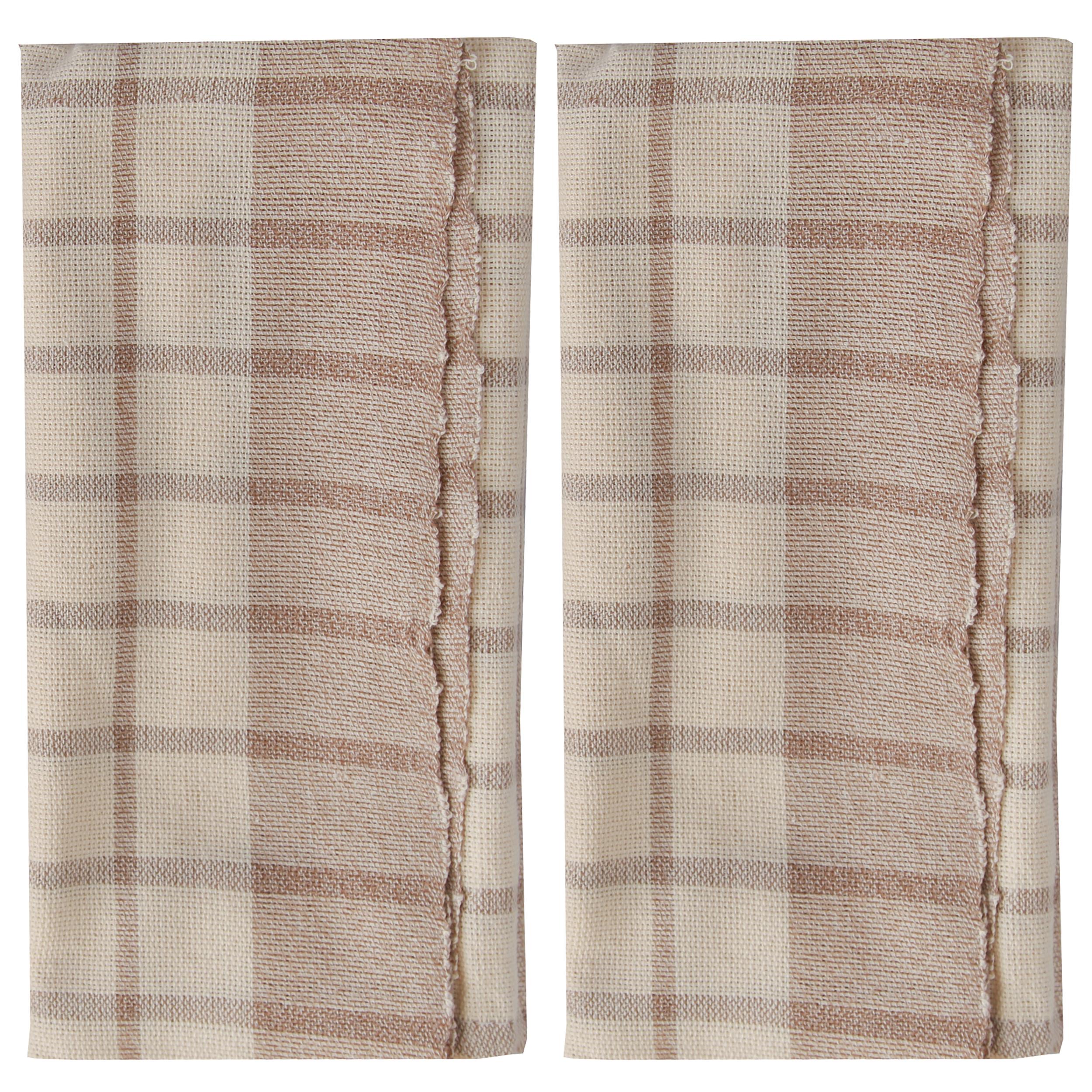 دستمال دستبافت چهل دختر کد 82024 سایز 41 × 64 سانتی متر بسته دو عددی