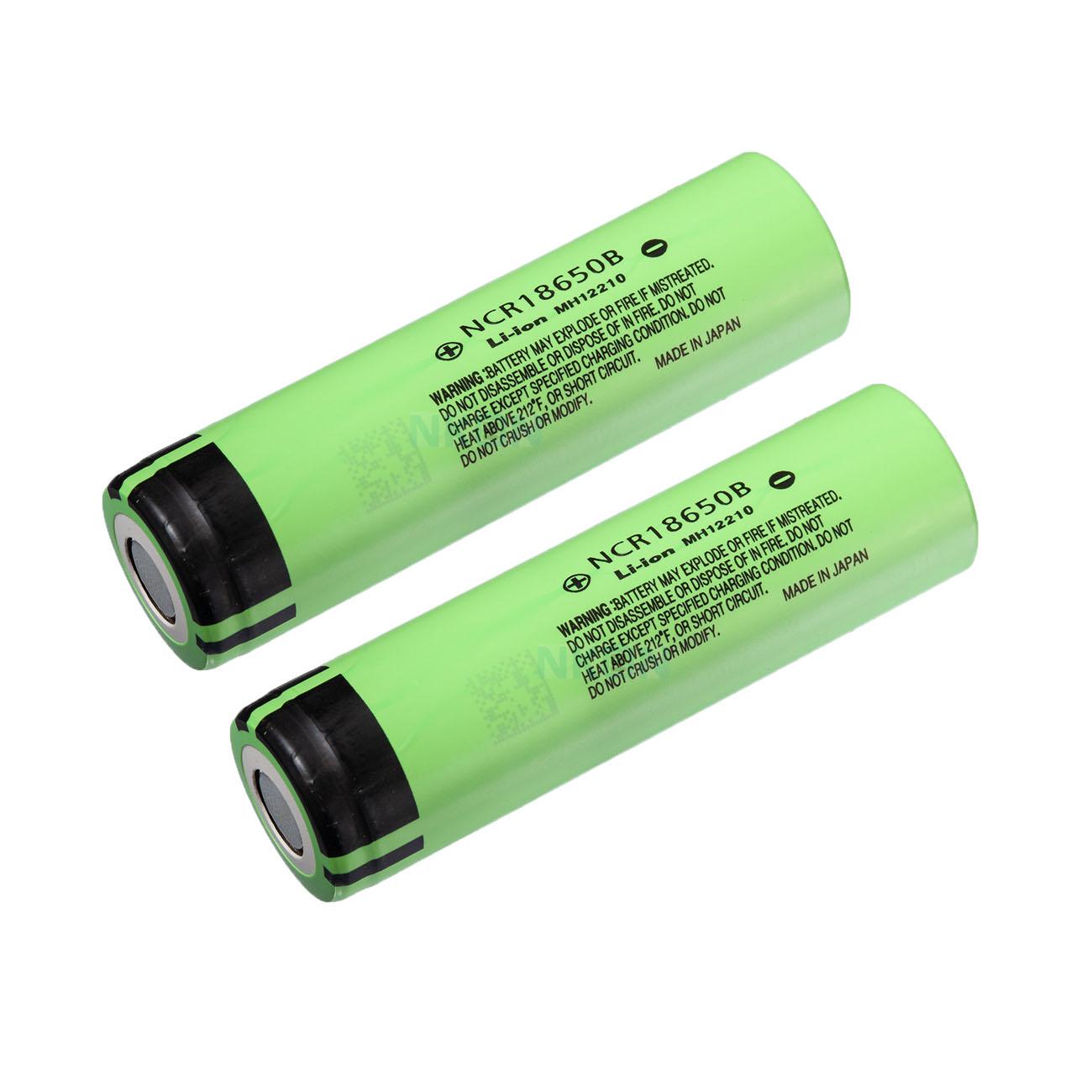 باتری لیتیوم یون پاناسونیک مدل NCR18650B ظرفیت 3400 میلی آمپر ساعت بسته 2 عددی