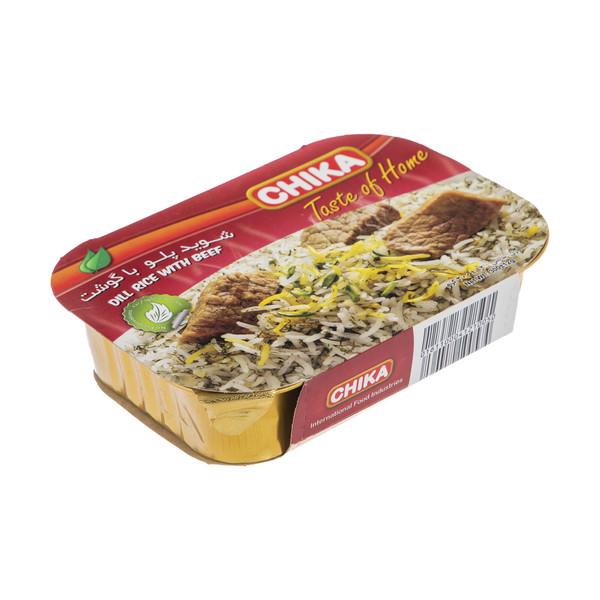 شوید پلو با گوشت چیکا مقدار 300 گرم