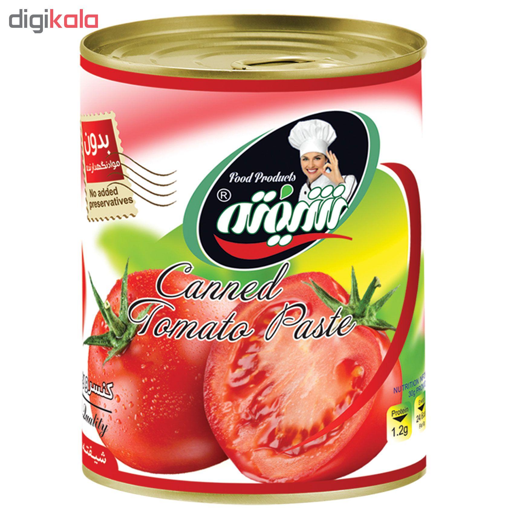 رب گوجه فرنگی شیفته مقدار 800 گرم