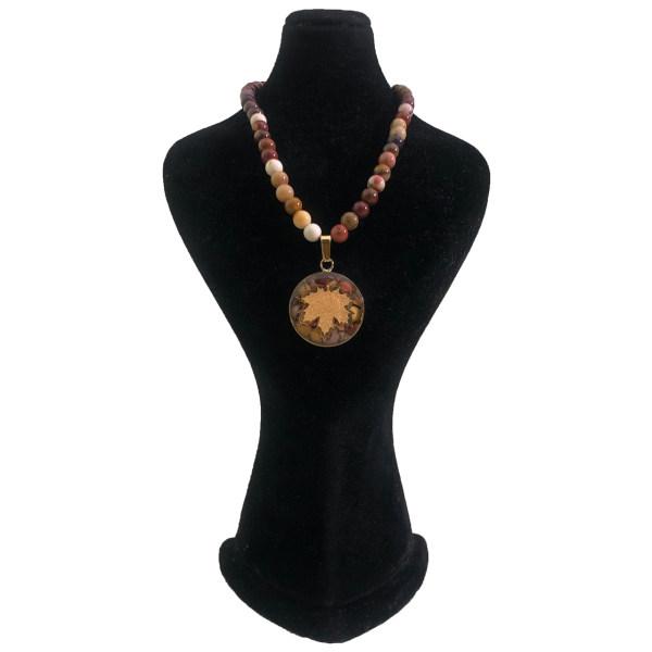 گردنبند طلا 24 عیار زنانه سام نورزاده طرح برگ پاییزی کد 80