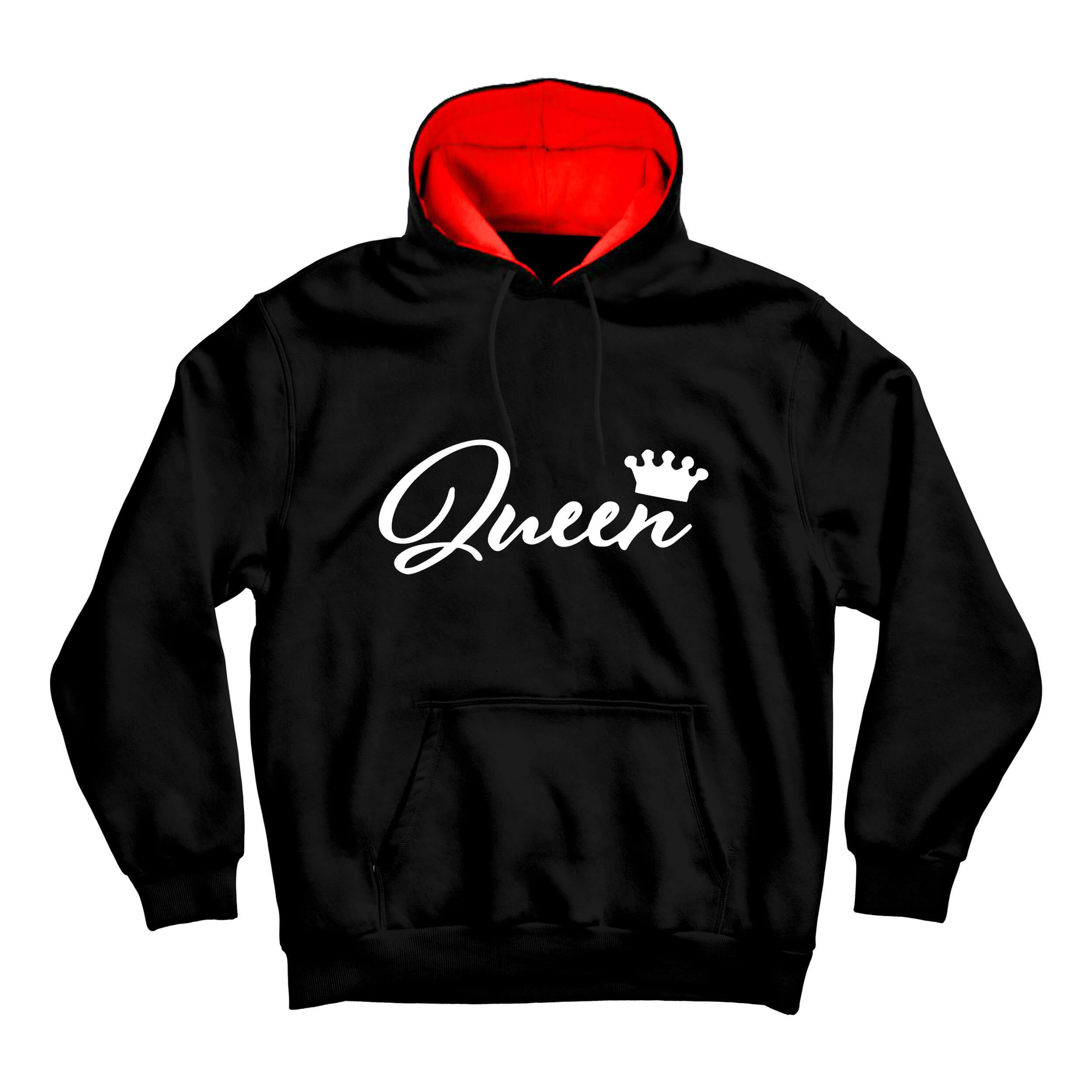 هودی مردانه طرح Queen کد m139 رنگ مشکی