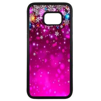 کاور طرح برف بنفش کد 43173 مناسب برای گوشی موبایل سامسونگ galaxy s6 edge plus