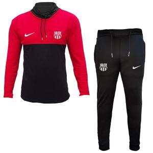 ست گرمکن و شلوار ورزشی مردانه طرح بارسلونا کد 2898