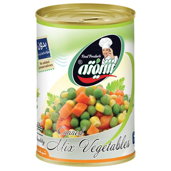 کنسرو مخلوط سبزیجات شیفته مقدار 370 گرم
