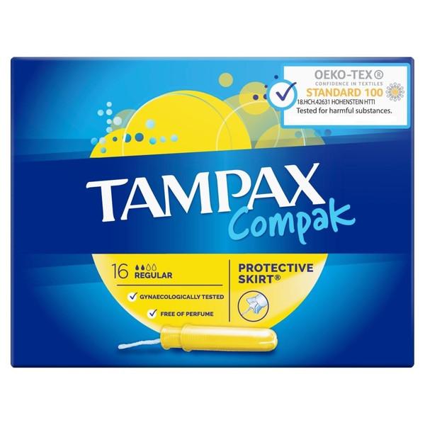 تامپون تامپکس مدل Regular Compak بسته 16 عددی