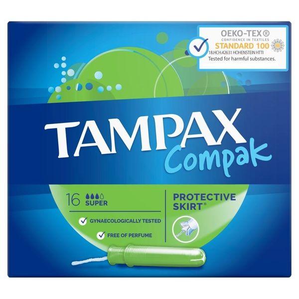 تامپون تامپکس مدل Super Compak بسته 16 عددی