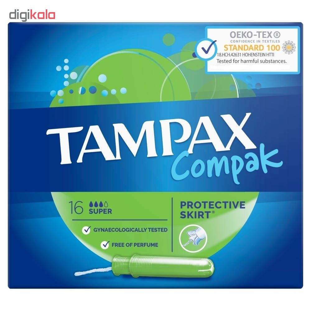 تامپون تامپکس مدل Super Compak بسته 16 عددی main 1 2