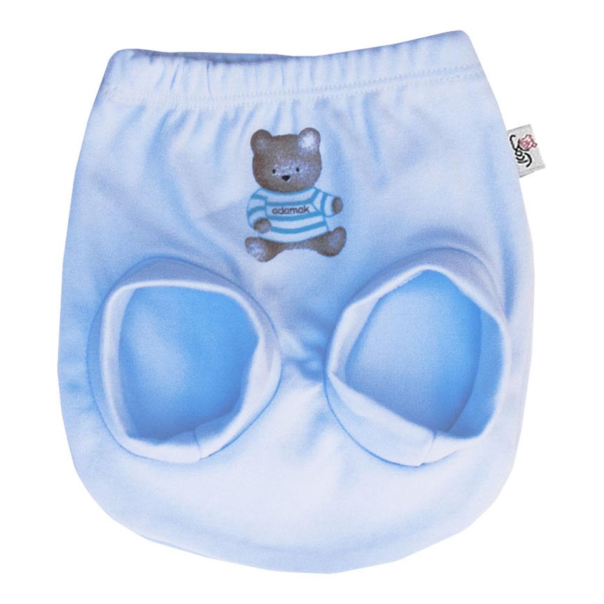 شورت نوزاد آدمک طرح خرس رنگ آبی