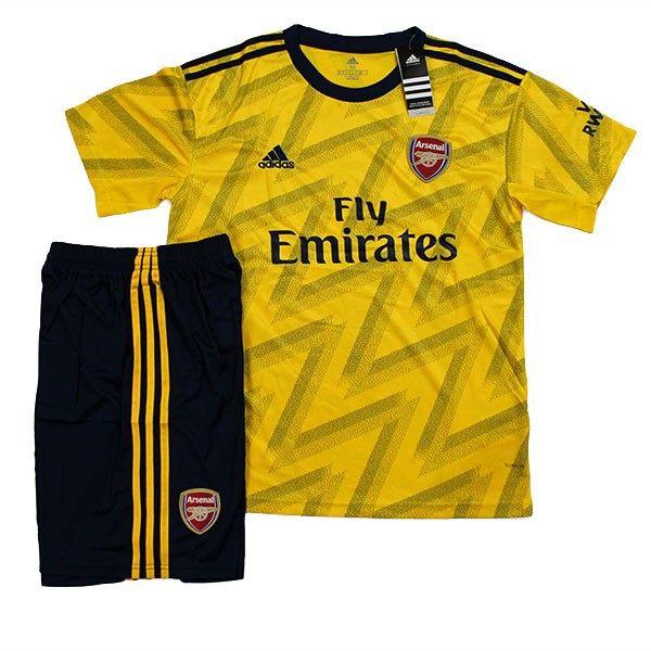 ست پیراهن و شورت ورزشی طرح آرسنال کد 20-19  رنگ زرد