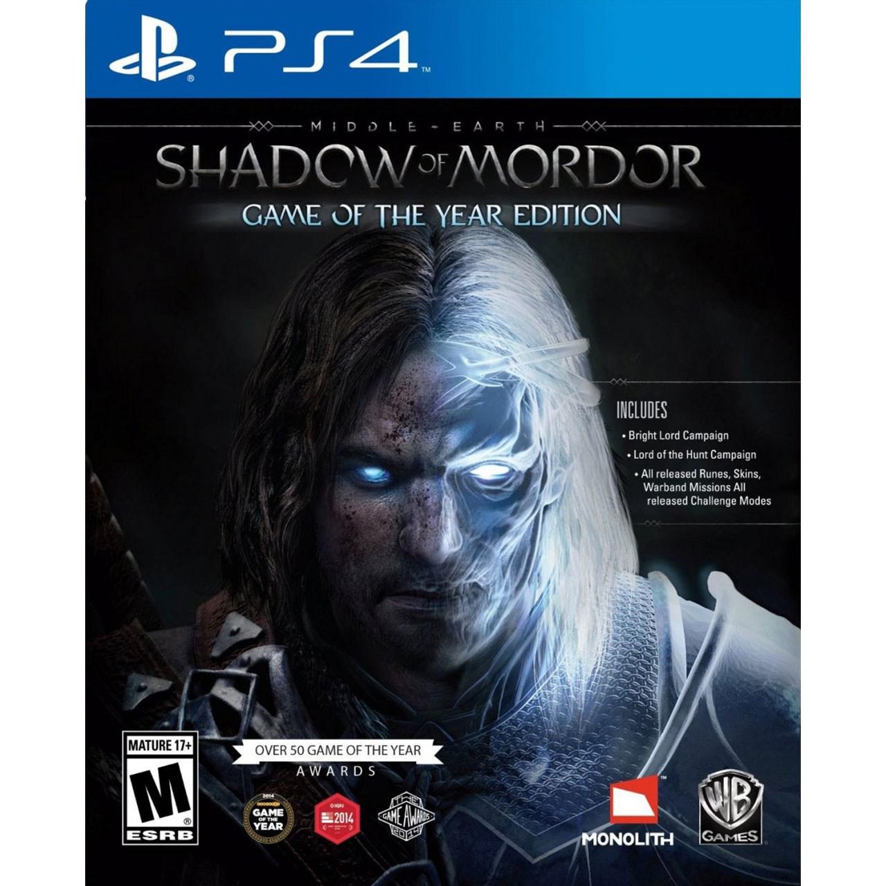 بازی Shadow of Mordor: Game of the Year Edition مخصوص PS4