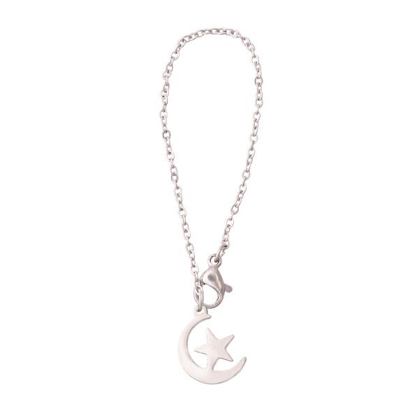 آویز ساعت زنانه طرح ماه و ستاره کد AS1071