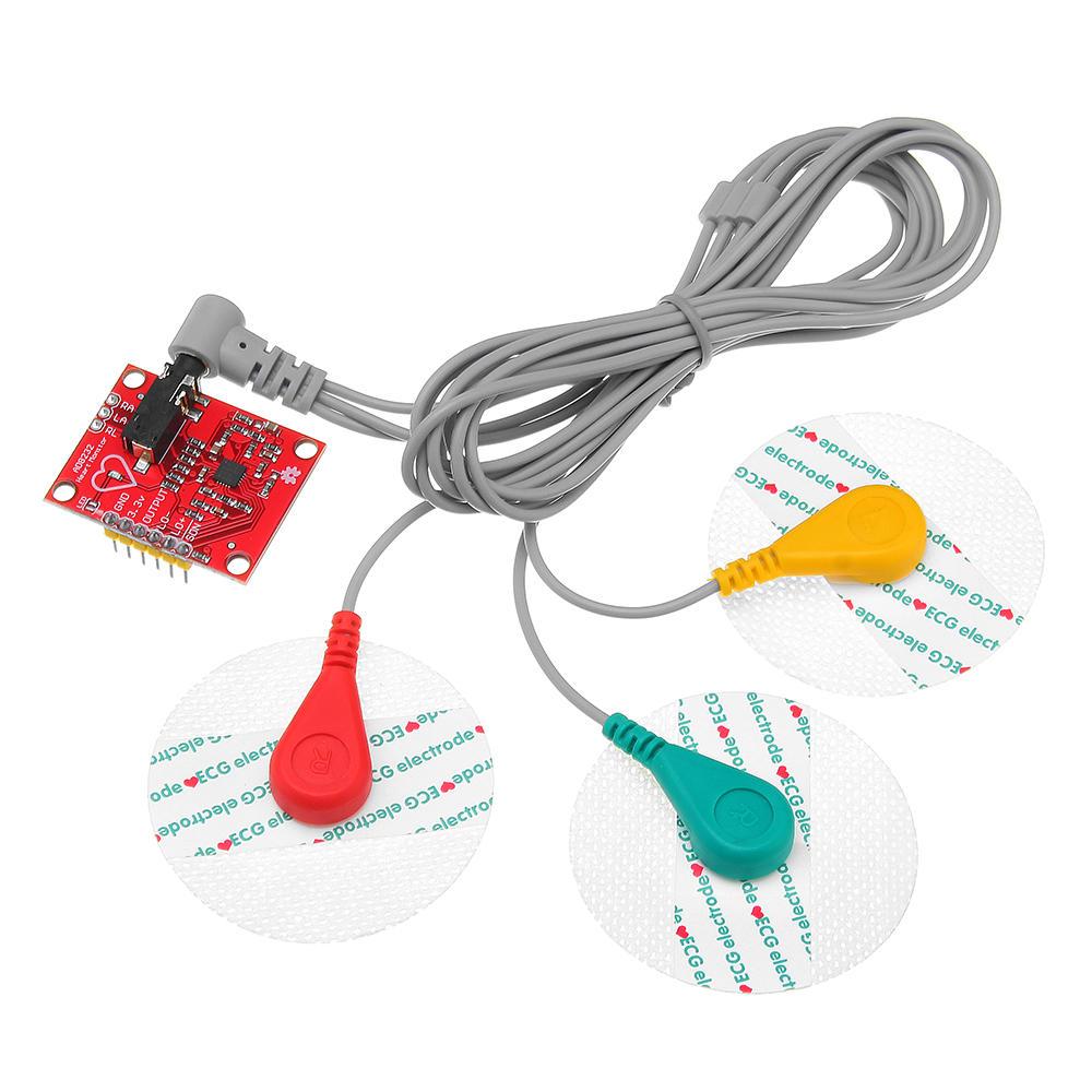 ماژول سنسور الکتروکاردیوگرافی مدل AD8232-3L بسته 5 عددی