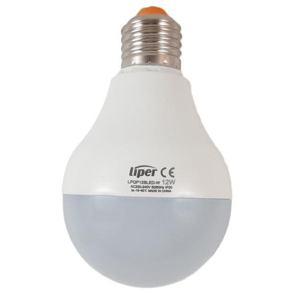 لامپ ال ای دی 12 وات لیپر مدل LPQP12CLED پایه E27